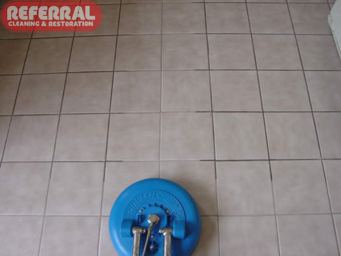 Cleaning ceramic tile and grout