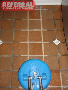Tile - Kitchen Tile & Grout Cleaning Contrast
