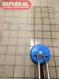Tile - Rinsing Construction Debris From Tile & Grout Floor