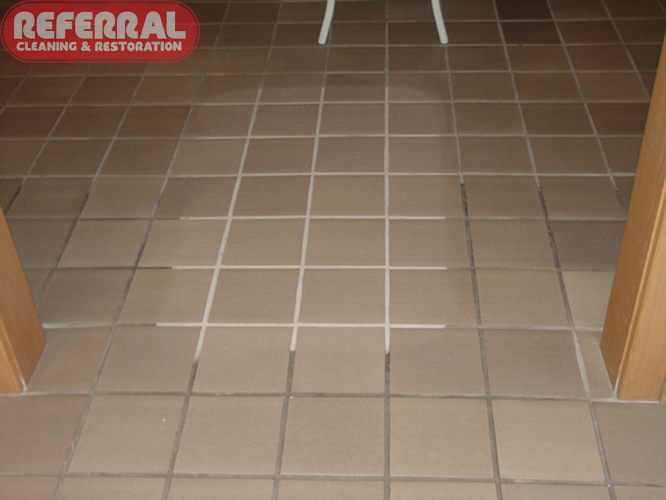 Grout Looks New After Referral Cleans It Tile Grout Floor Cleaning
