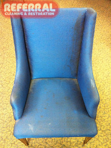 Upholstery - Chair cleaning 1 - Before
