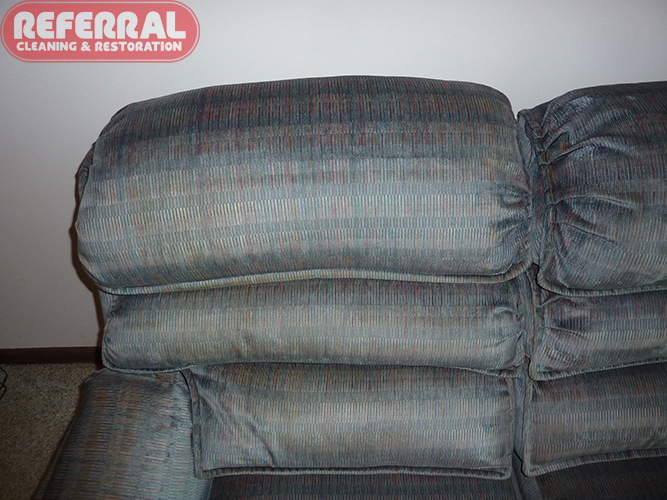 Upholstery - Sofa Headrest After Cleaning