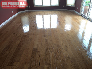 Hardwood Floor After Applying Finisher