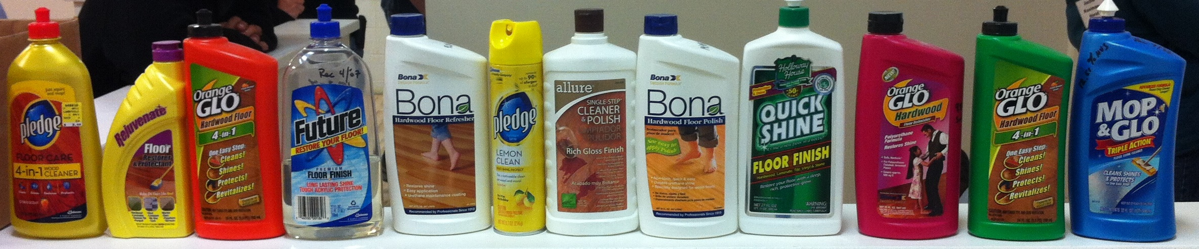 Products to Avoid because they can leave behind a residue